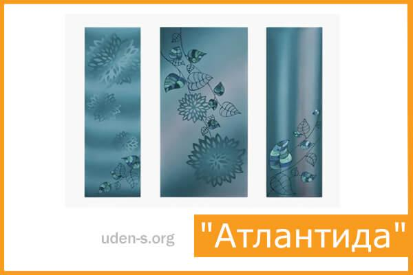 """Изображение """"Атлантида"""" (триптих) дизайн-обогреватели"""