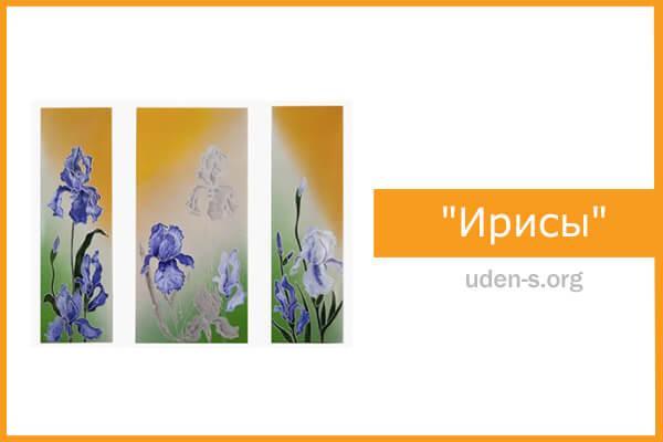 """Изображение """"Ирисы"""" (триптих) дизайн-обогреватели"""