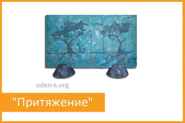 """Изображение """"Притяжение"""" бирюзовый 582PS5PR812 керамогранитный обогреватель"""